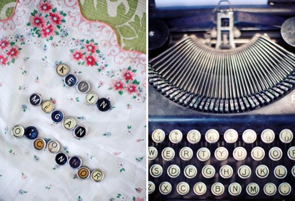 Vintage Typewriter Guestbook