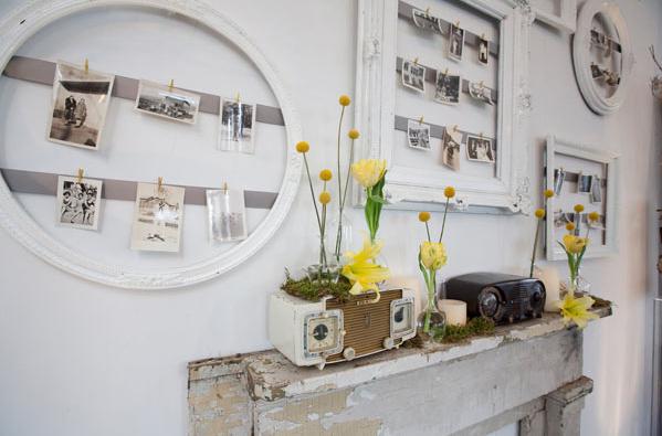 Repurposed Vintage Frames & Radios