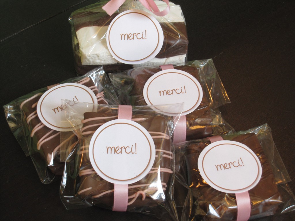 Customized Gourmet Marshmallow Wedding Favors