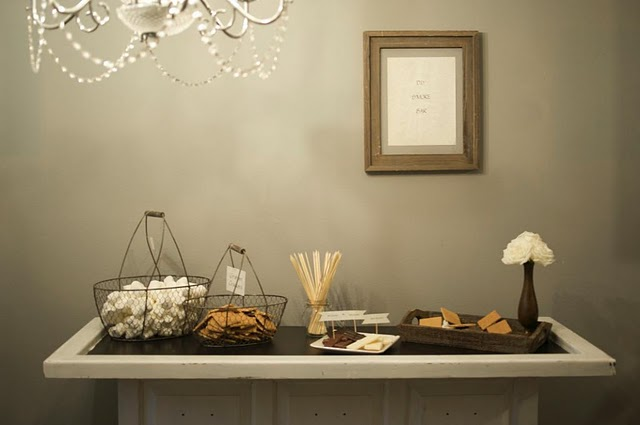 Love this S'more Buffet from Dandelion & Grey on Post Cards & Pretties