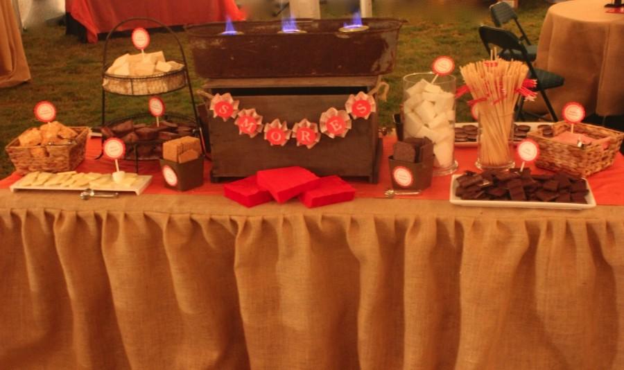 gourmet s'more dessert station