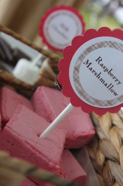 gourmet raspberry marshmallows